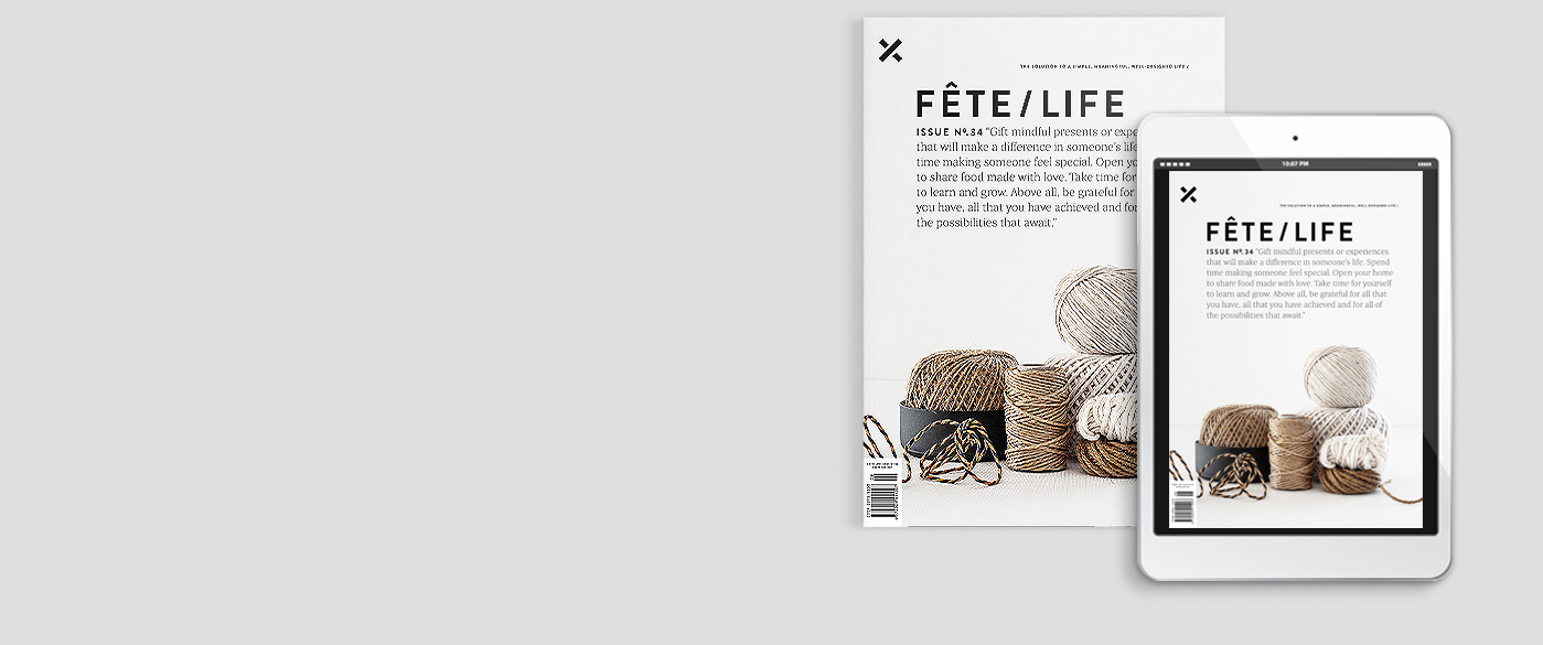 Fete/Lifemagazine is an independent, Australian magazine with a minimalist and monochromatic aesthetic